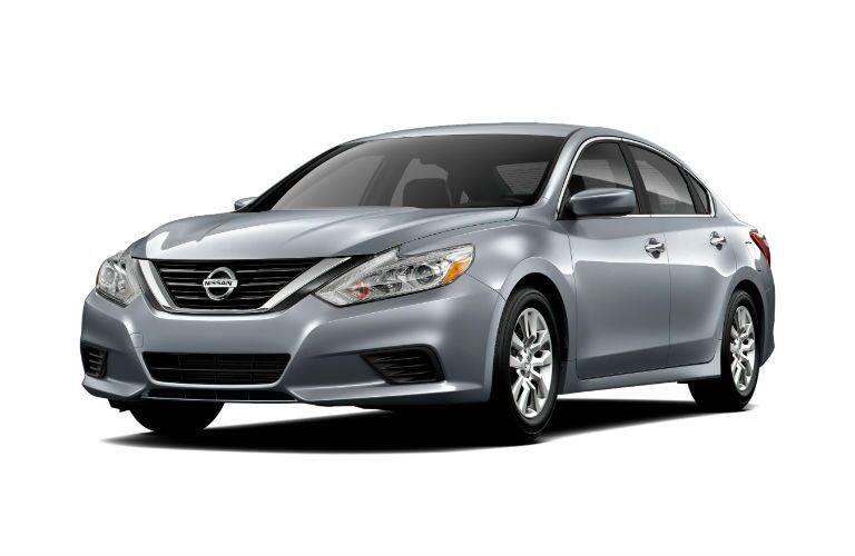 Front view of a 2018 Nissan Altima on a white background