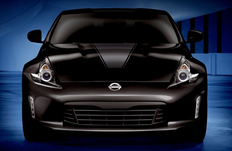 front view of black 2019 nissan 370z