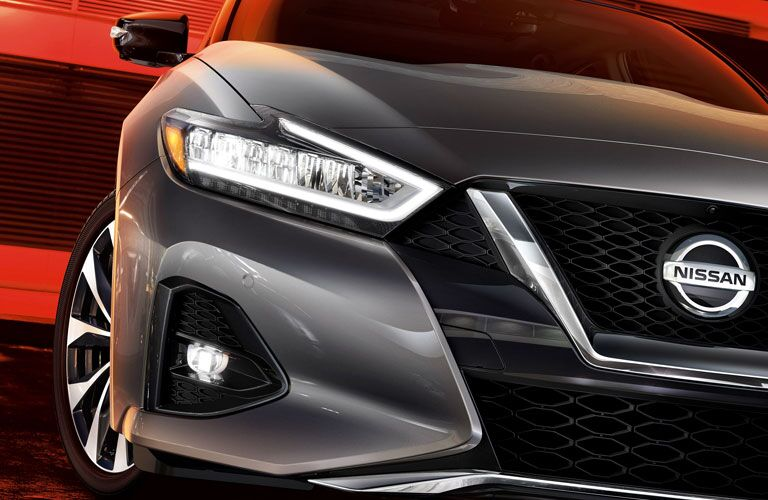 2020 Nissan Maxima close up of the front end