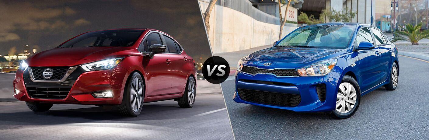 2020 Nissan Versa vs 2020 Kia Rio
