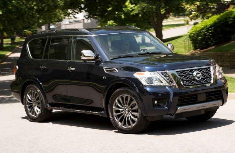 2020 Nissan Armada on the road