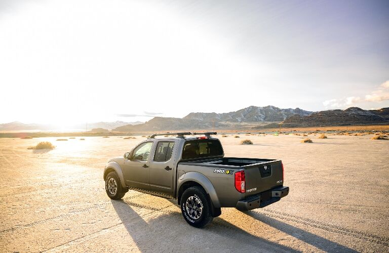 2020 Nissan Frontier facing the sunset