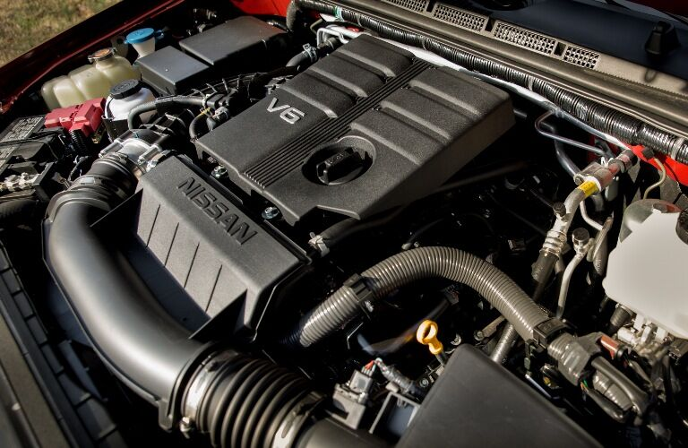 Engine in the 2020 Nissan Frontier