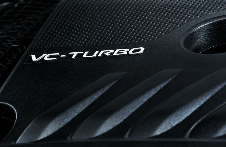 A photo of the engine cover on the turbocharged engine of the 2020 Altima.