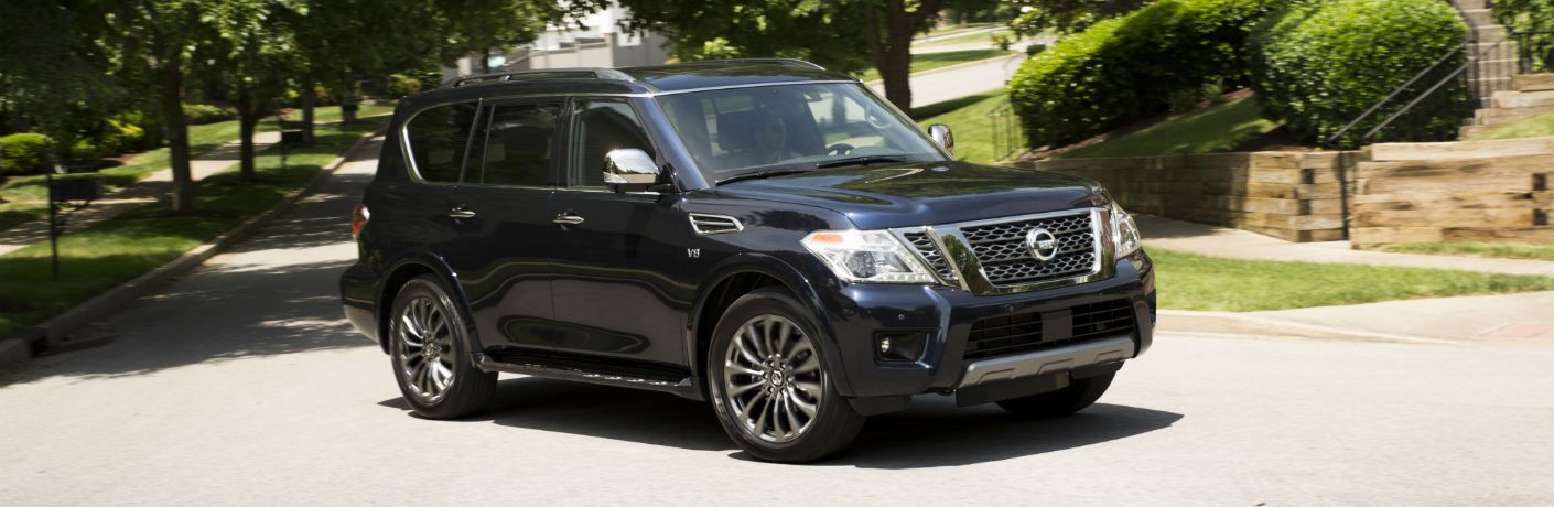 A front right quarter photo of the 2020 Nissan Armada.