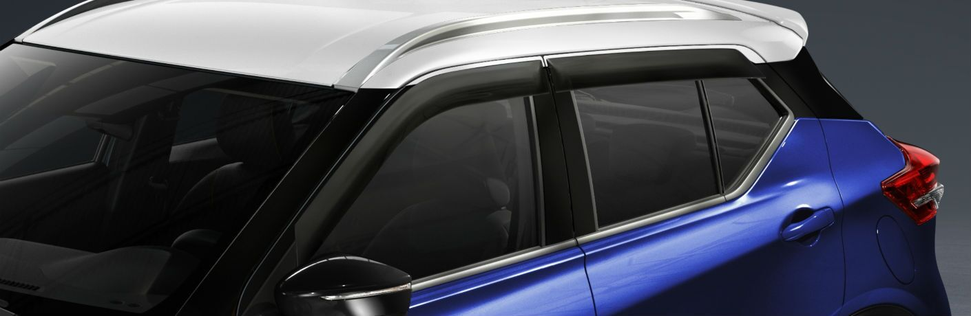 A photo of the two-tone roof on the 2020 Nissan Kicks.