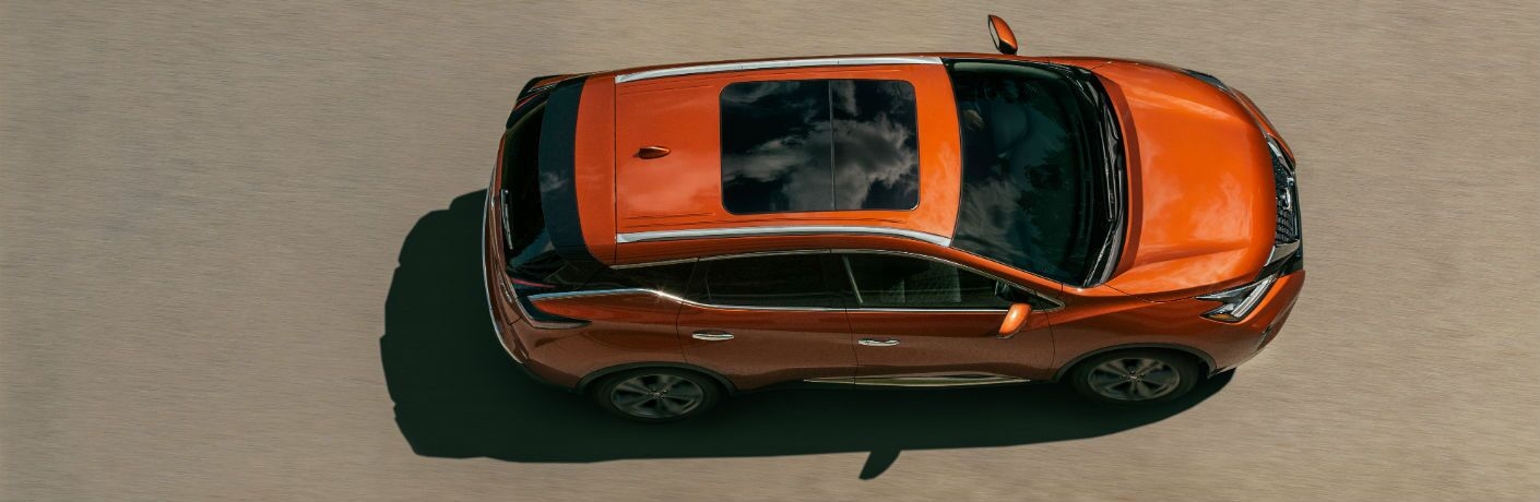 An overhead photo of the 2020 Nissan Murano with a sunroof.