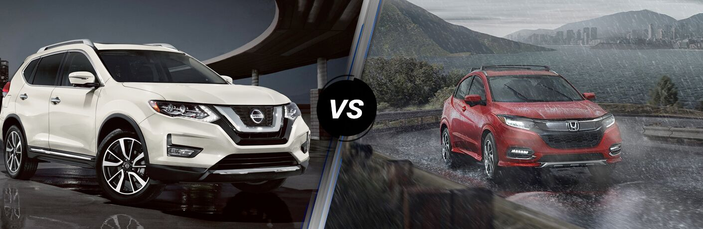 A side-by-side comparison of the 2020 Nissan Rogue vs. 2020 Honda HR-V.