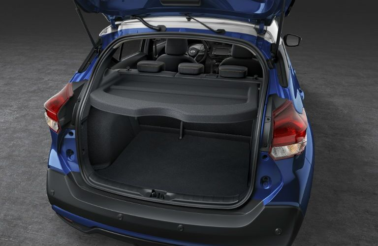 A photo of the rear cargo storage solutions in the 2020 Nissan Kicks.