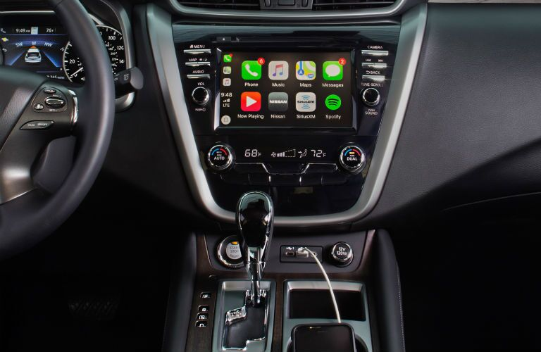 A photo of the touchscreen in the 2020 Nissan Murano.