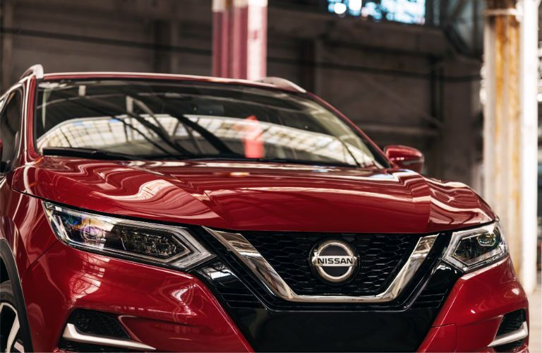 A photo of the V-Motion grille used on the 2020 Nissan Rogue Sport.