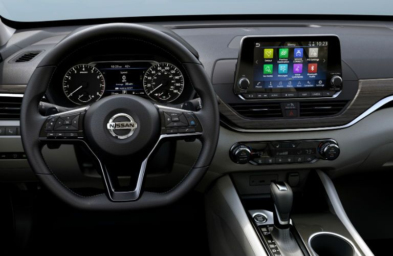 A photo of the driver's cockpit in the 2020 Nissan Altima.