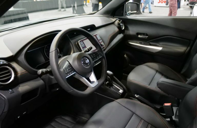 A photo of the front seats of the 2019 Nissan Kicks.