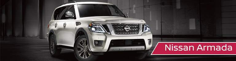 white Nissan Armada front side view