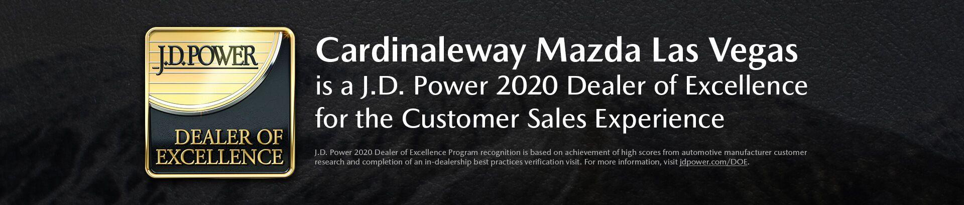CardinaleWay Mazda Las Vegas JD Power Dealer of Excellence