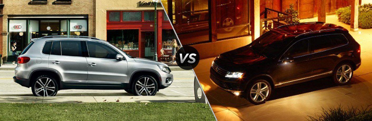2017 Volkswagen Tiguan vs 2017 Volkswagen Touraeg