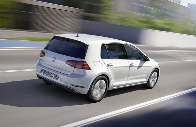 2017 Volkswagen e-Golf on the highway