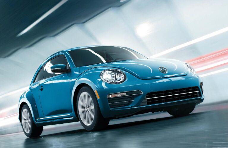 2017 vw beetle in blue