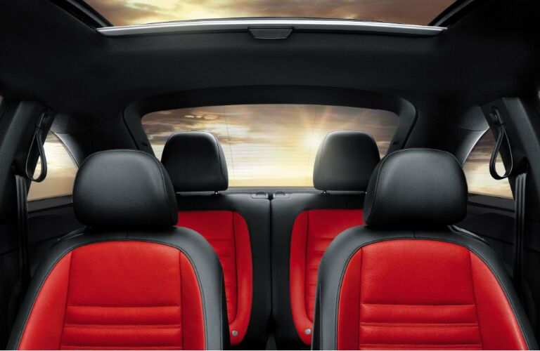 red and black seats in 2017 vw beetle