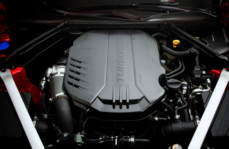 engine close up of 2018 kia stinger