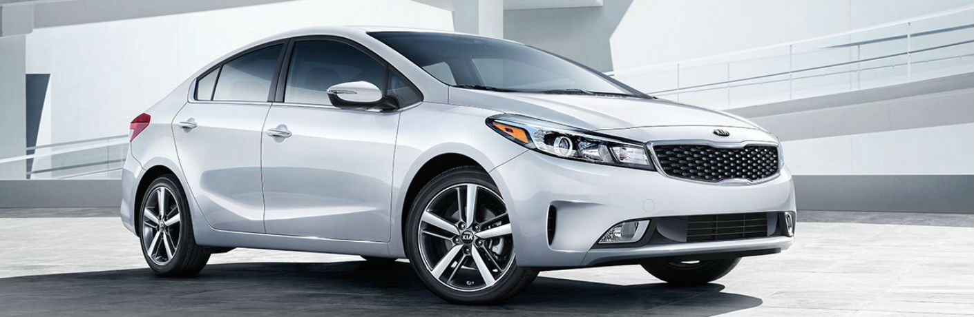 Exterior view of silver 2018 Kia Forte