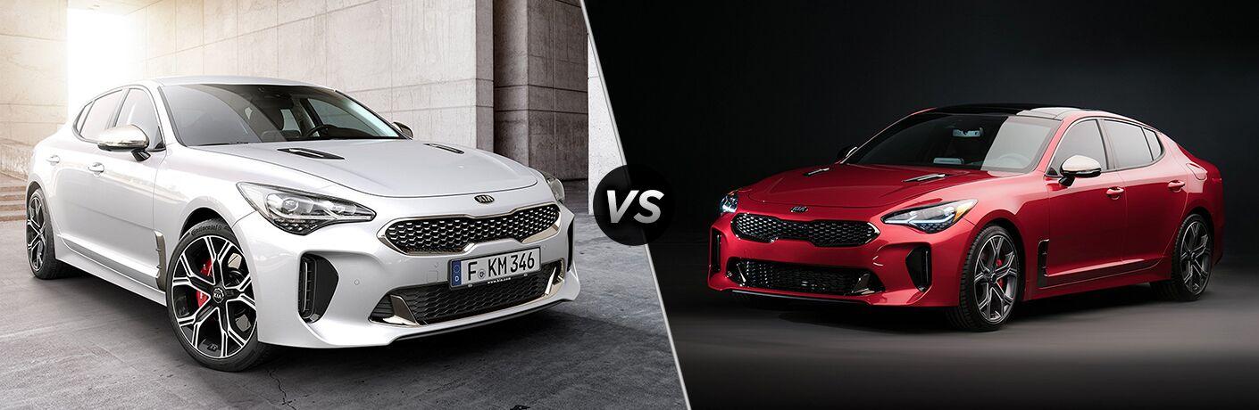 2018 Kia Stinger V6 vs 2018 Kia Stinger 4-cylinder