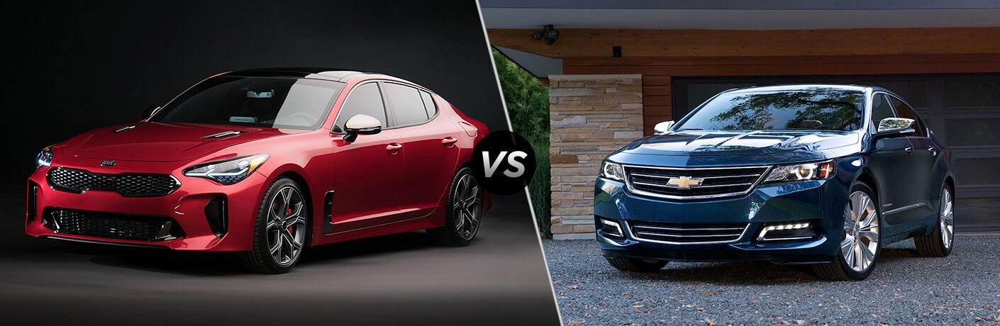 2018 Kia Stinger vs 2018 Chevrolet Impala