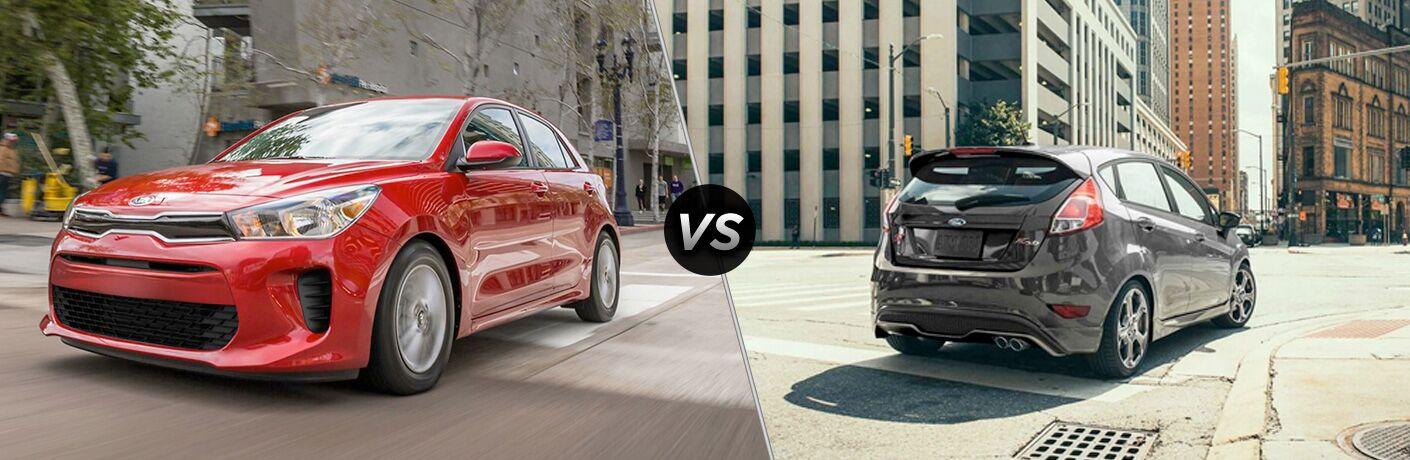 2020 Kia Rio vs 2019 Ford Fiesta side by side comparison