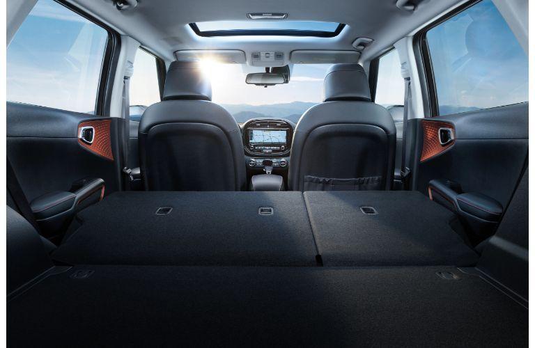 2021 Kia Forte interior low angle back seats down