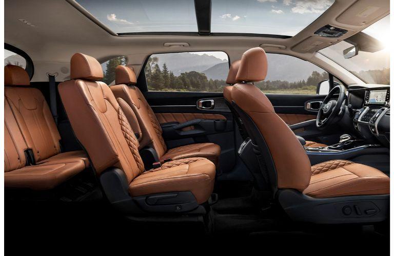 2021 Kia Sorento side view of cutaway interior