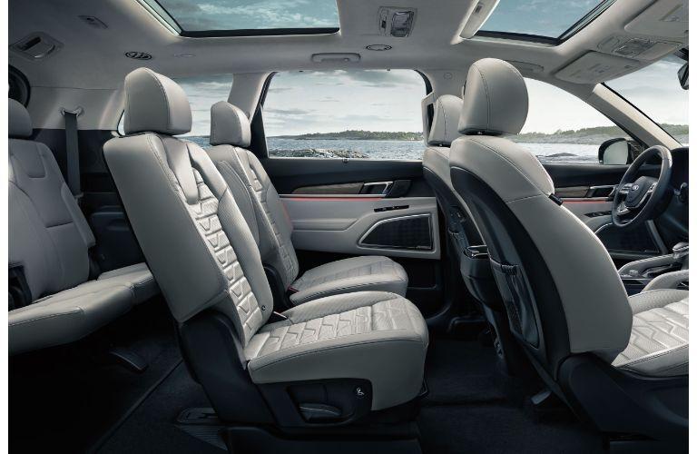 2021 Kia Telluride interior view of all three rows