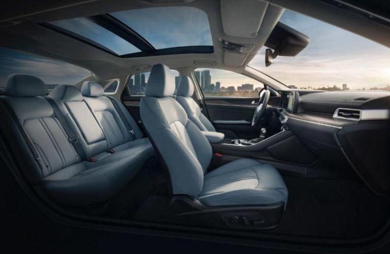2022 Kia K5 front and rear seats