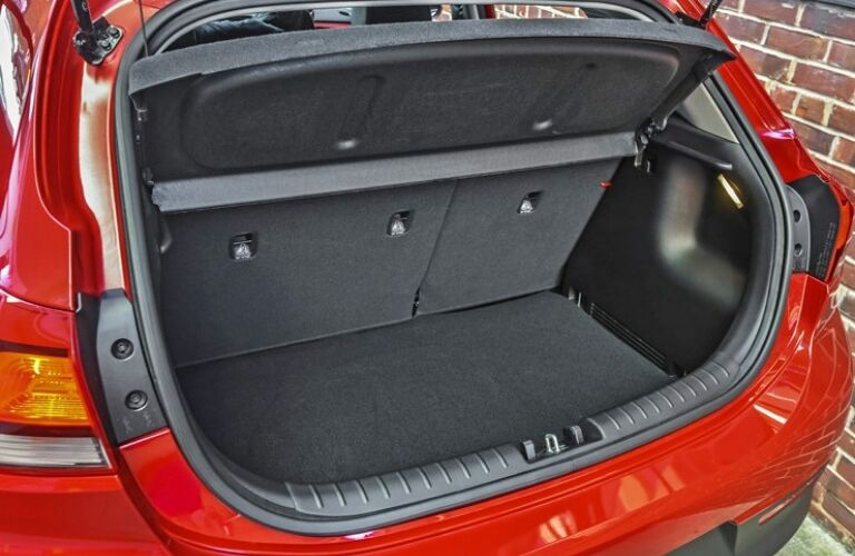 Interior view of 2019 Kia Rio 5-door cargo area