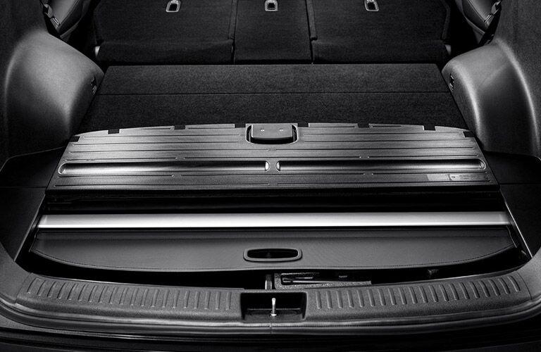 2017 Kia Sorento cargo area with rear seat down_o