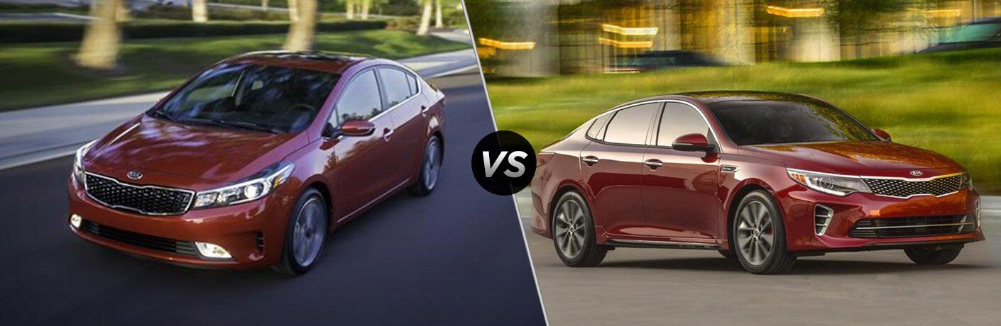 2017 Kia Forte vs 2017 Kia Optima
