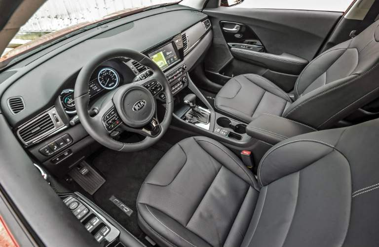 2018 Kia Niro with black leather interior