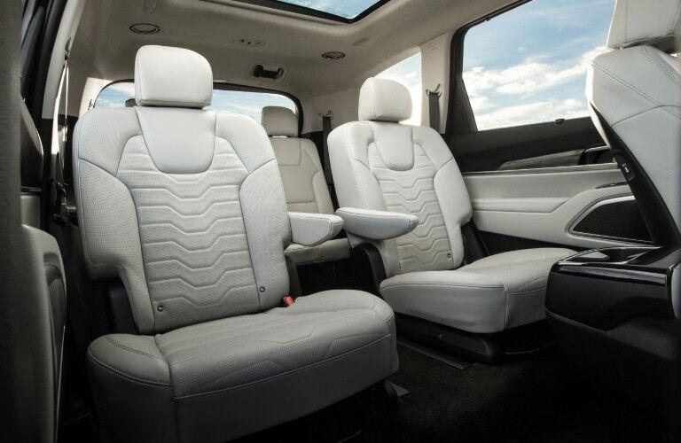 2021 Kia Telluride interior second row white seats