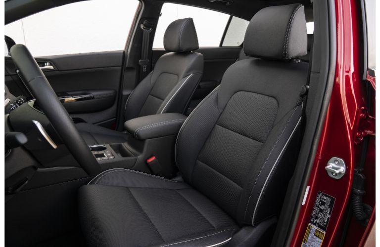 Front seats in the 2021 Kia Sportage