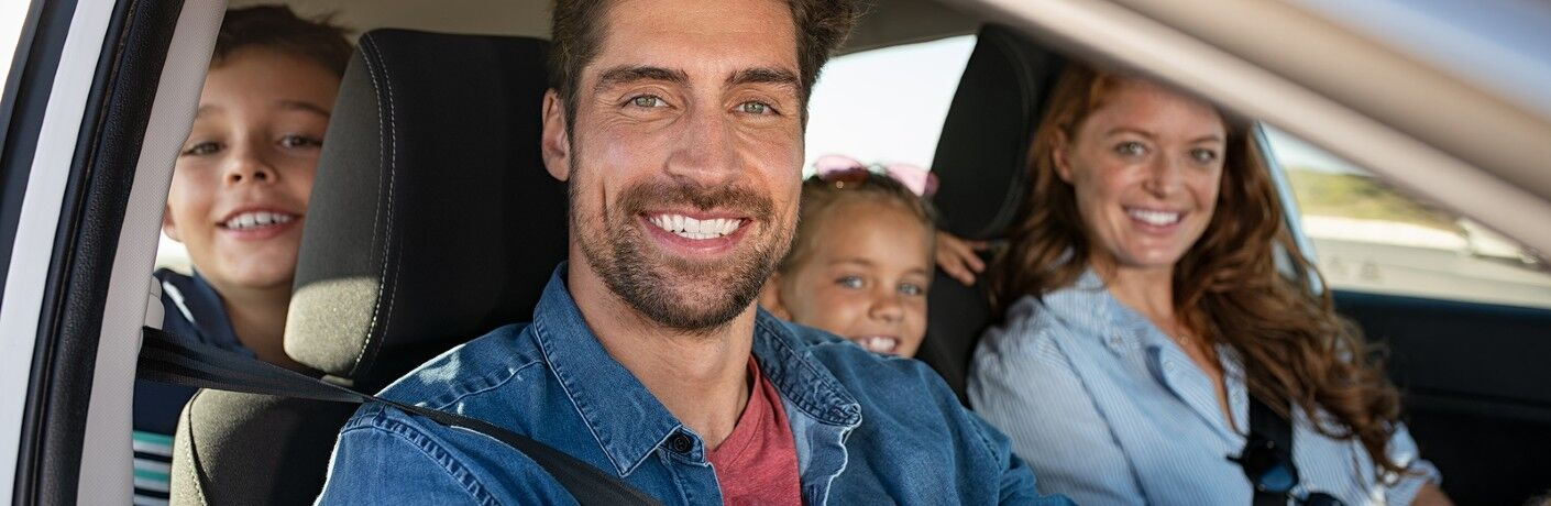 Family riding in a vehicle
