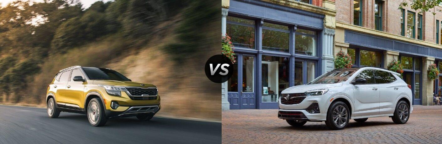 The 2021 Kia Seltos along with 2021 Buick Encore GX