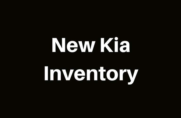 View New Kia Inventory at Lehighton Kia