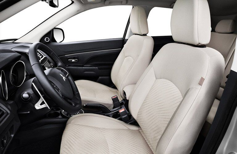 pale front seats of the 2016 Mitsubishi Outlander Sport