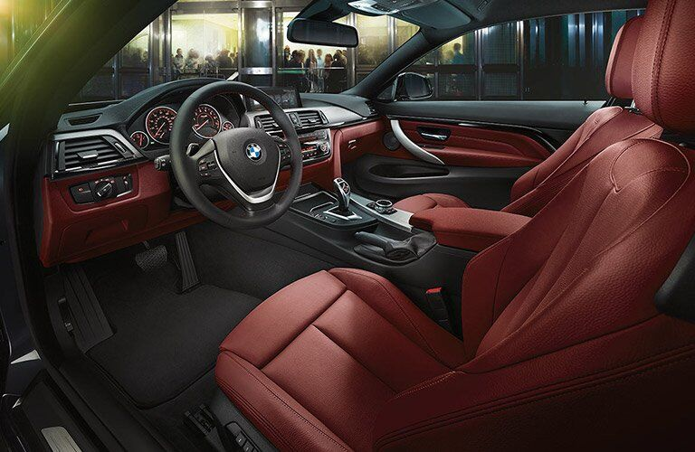 luxurious red front seats of the 2017 BMW 4 Series