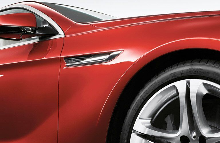 Red 2017 BMW 6 Series Front Quarter Panel and Wheel