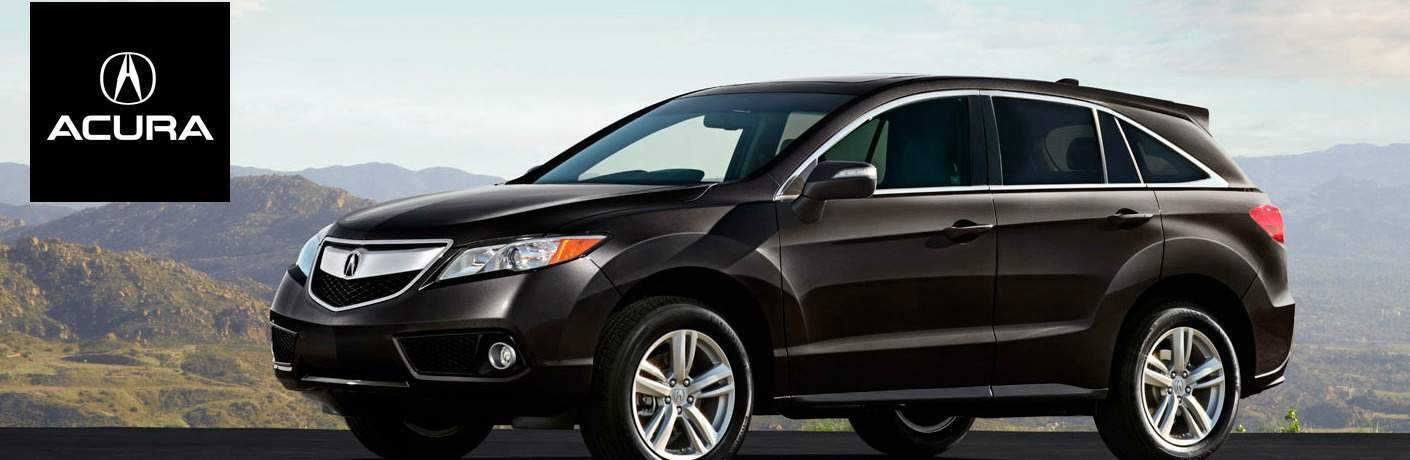 black Acura RDX side view