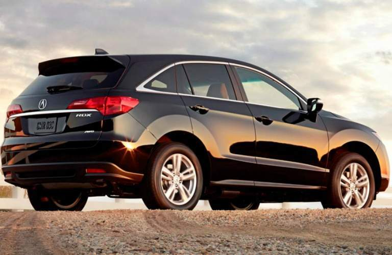 black Acura RDX back side view