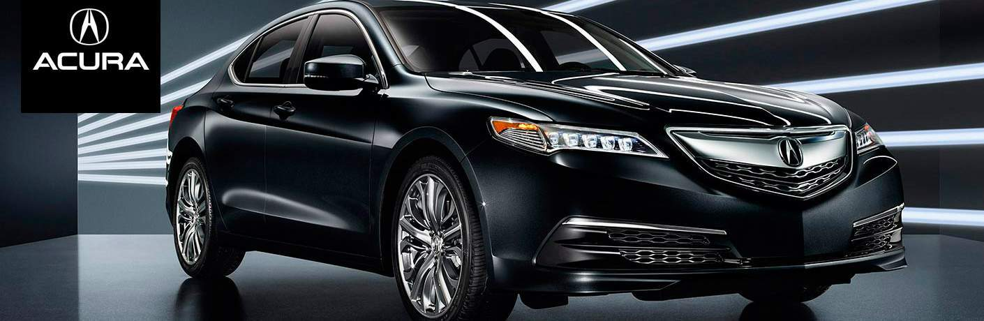 black 2015 Acura TLX front side view