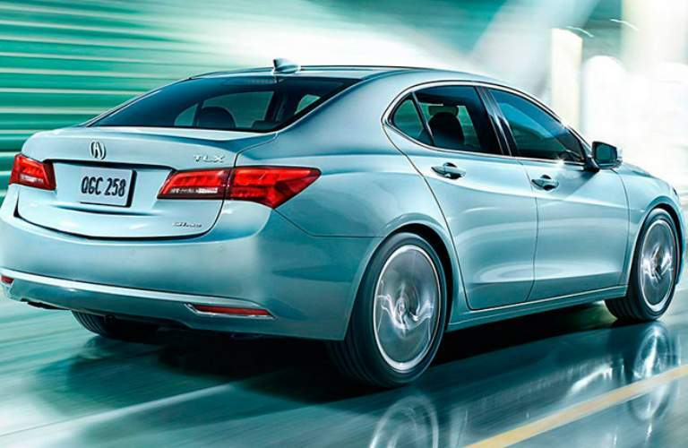 silver 2015 Acura TLX back side view