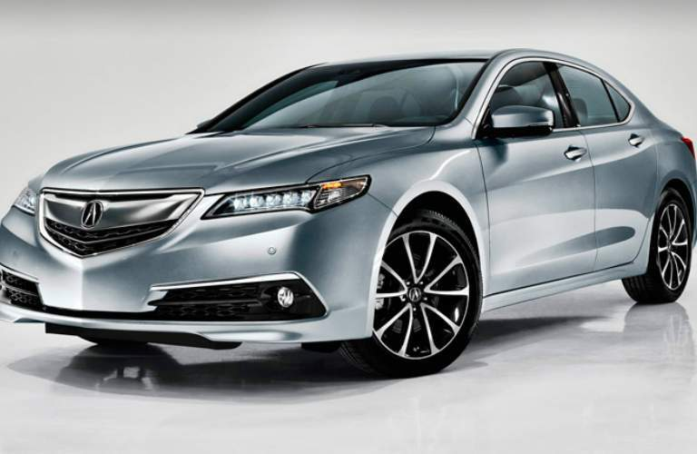 silver 2015 Acura TLX front side view