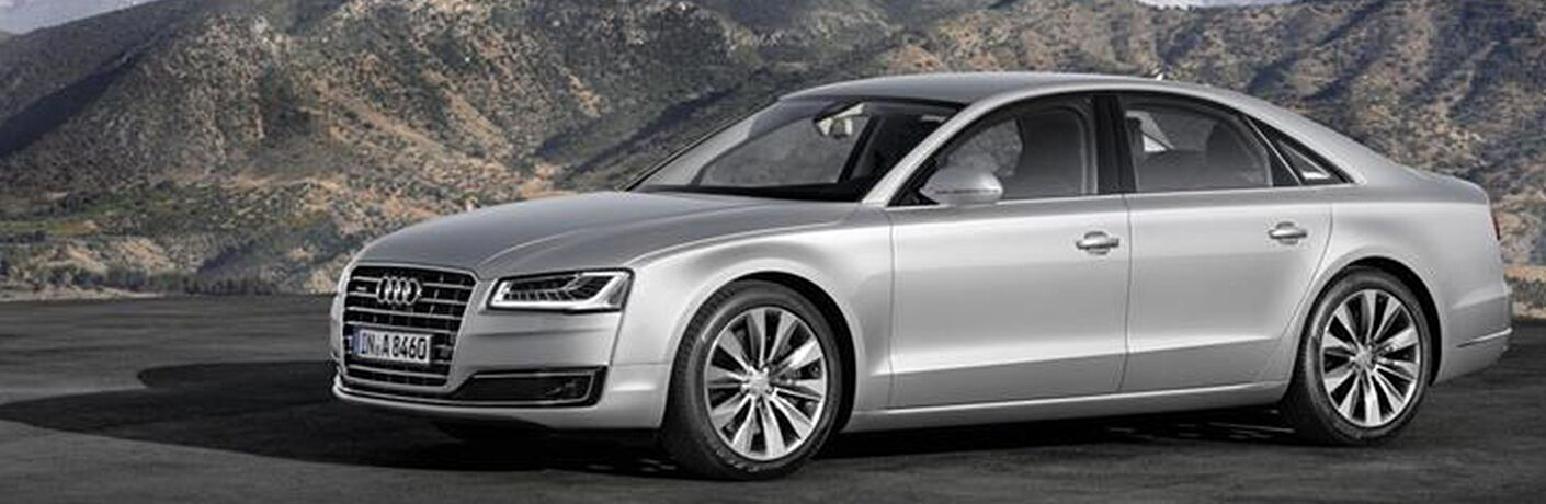 2015 Audi A8 exterior front fascia and drivers side